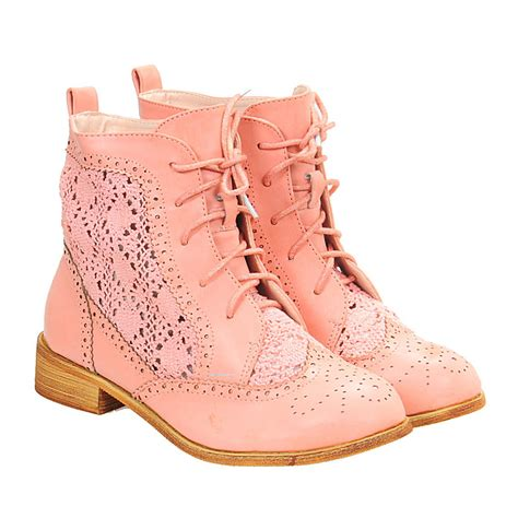 crochet ankle boots vintage crochet sweet toe lace up ankle boots for