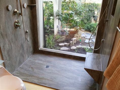 rosemary seamless corian shower bathroom
