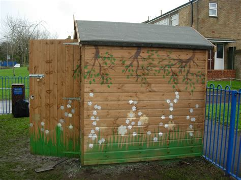Painted Garden Sheds by How To Make Your Wooden Garden Shed Blend In To The