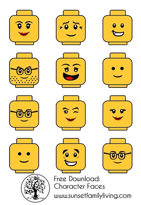 printable lego images lego faces pinteres