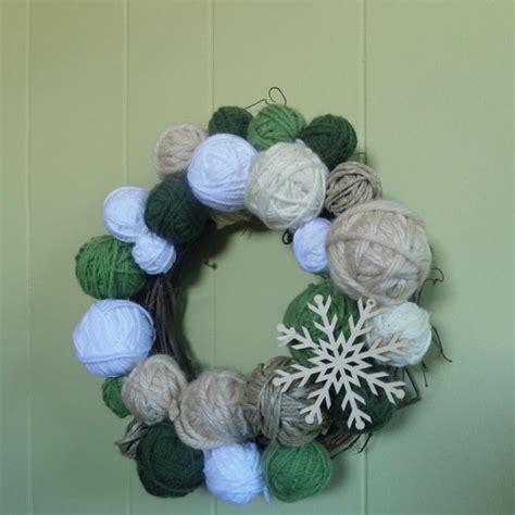 diy decorations yarn yarn diy wreath allfreeholidaycrafts