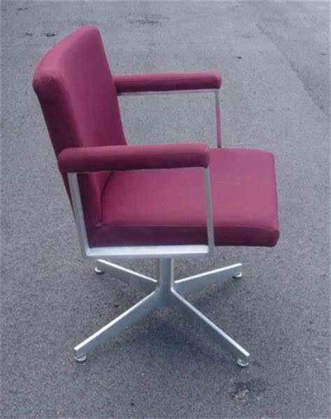 vintage gf office furniture aluminum chairs burgundy ebay