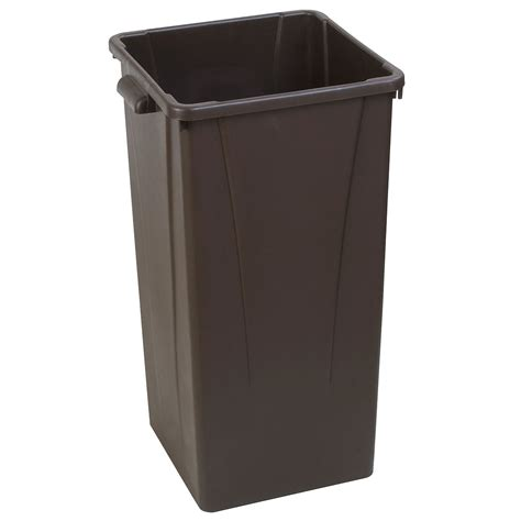 commercial trash cans carlisle 34352369 23 gallon commercial trash can plastic square built in handles