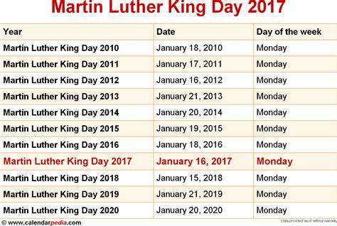 Calendar King Image Gallery Mlk Day 2018