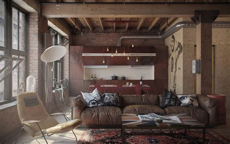 industrial interiors home decor eclectic bachelor retreat
