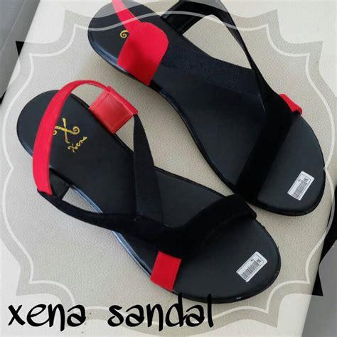 Sadal Tali Xena Hitam Merah Jual Sandal Tali Xena Hitam Merah Elstore Sepatu Bogor
