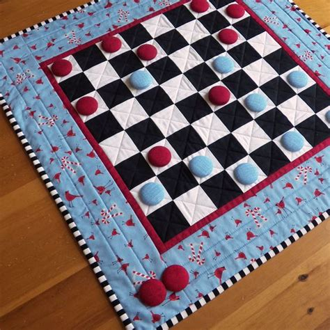 pattern board games custom checkers game board quilted table runner any