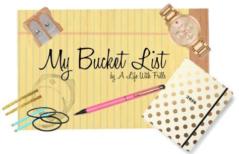 my list my list a with frills