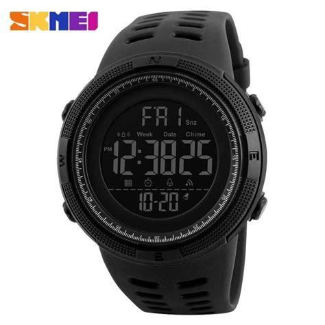 Jam Tangan Skmei Black skmei jam tangan digital pria dg1251 black
