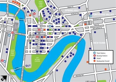 printable map brisbane cbd transport information 171 iom2016 brisbane