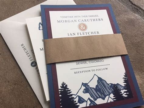 blue mountain wedding invitations 25 best ideas about mountain wedding invitations on