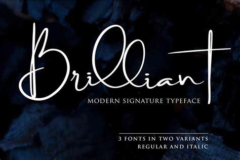 brilliant signature font   dafont