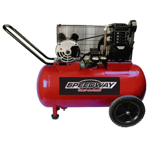 speedway 20 gal 2 hp cast iron electric air compressor 53200 the home depot