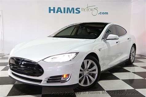 Tesla Model S 60 Kwh Review 2014 Used Tesla Model S 4dr Sedan 60 Kwh Battery At Haims