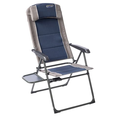 Reclining Folding Chair Quest Elite Deluxe Comfort Reclining Folding Chair Ndash Blue