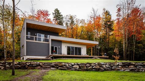 Modern With Vintage Home Decor modern rustic chalet bolton est in quebec by boom town