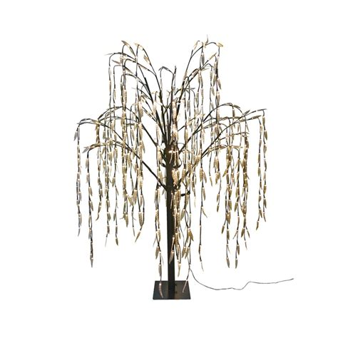 5ft weeping willow led artificial christmas tree at