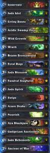 best hs decks jade druid archives hs decks and guides