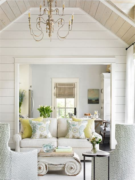 Shiplap Walls And Ceiling Shiplap Paneled Walls Wood Paneled Ceiling Living