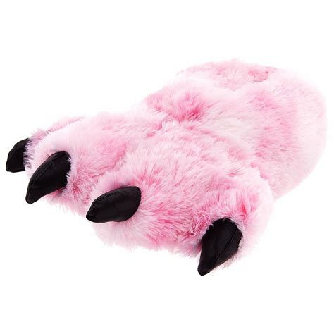 paw slippers large pink grizzly paw slippers co uk toys