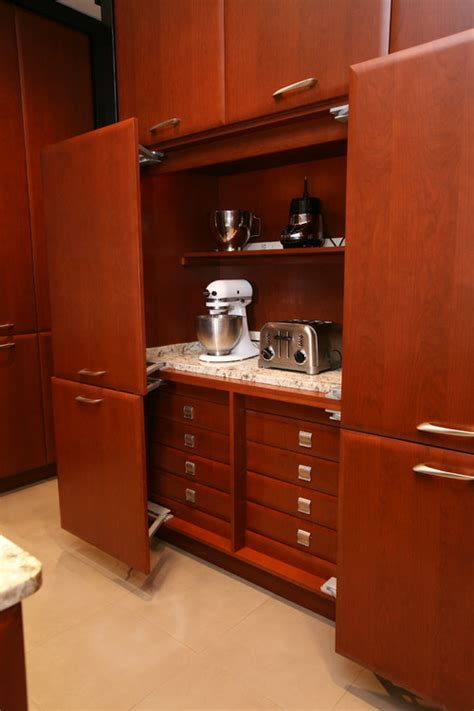 kitchen appliance storage cabinets how to use appliance drawers to your advantage