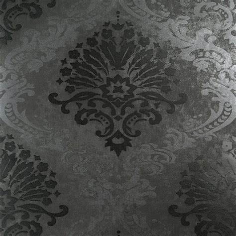 black grey wallpaper designs luxurious metallic rich dark grey damask wallpaper r3886