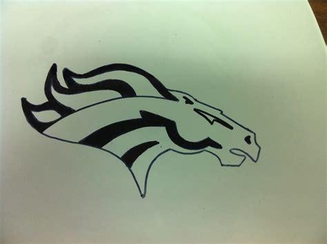 Printable Broncos Stencil