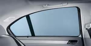 bmw genuine rear side window sun shade screen blind set