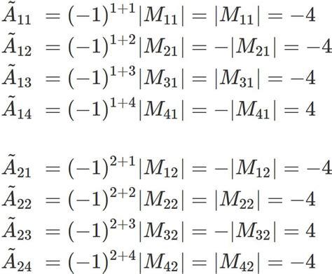 How to find the inverse matrix of a 4x4 matrix - SEMATH INFO C- 4x4 Matrix Inverse
