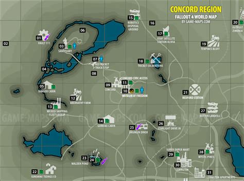 bobblehead locations map fallout 4 concord region map fallout 4