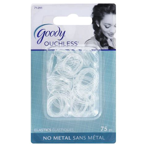 poly band hair goody ouchless mini crystal polyband elastics 75 ct