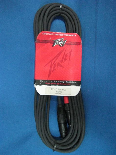 high impedance mic cable peavey 25ft low impedance to high impedance microphone