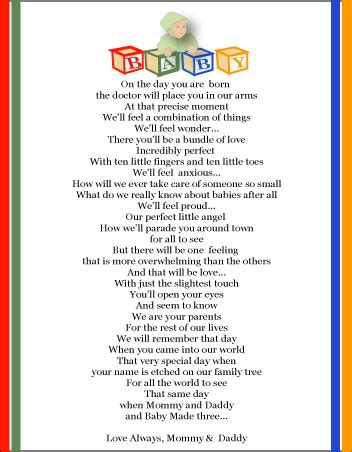 Baby Shower Poem by Baby Shower Poem Image From Baby Shower Wishing Well