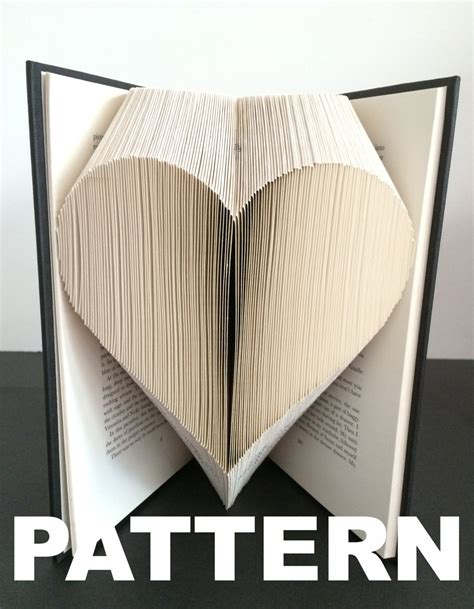 book folding pattern heart free instructions great for