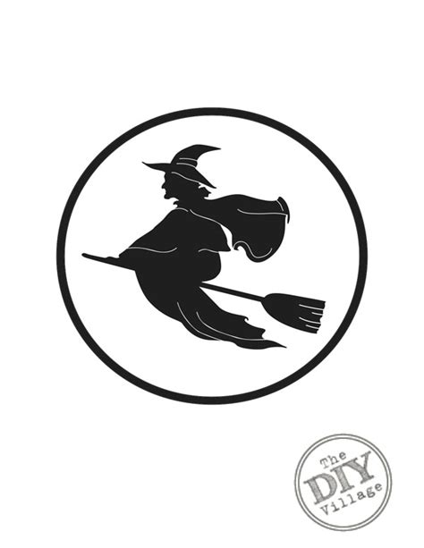 printable pictures of halloween witches free halloween printables the diy village