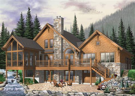 Ski Lodge Floor Plans Classique Champ 234 Tre Bordure De Lac Chalet