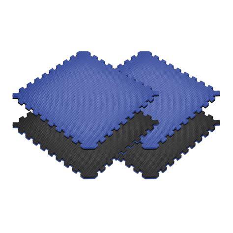 Reversible Floor Mats by Norsk Black Blue 24 In X 24 In X 0 79 In Foam