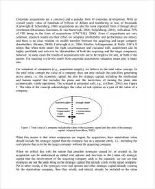 acquisition strategy template sle acquisition strategy 6 documents in pdf