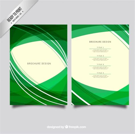 green brochure layout vector abstract brochure design in green color vector free download