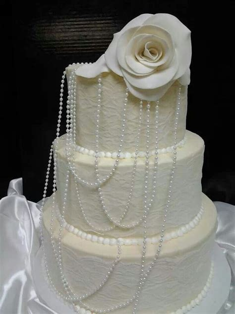 Pearl wedding cakes, Melissa mcbride and Wedding cakes on