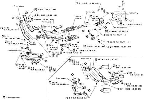 nissan 1986 d21 4x4 exhaust diagram nissan free engine