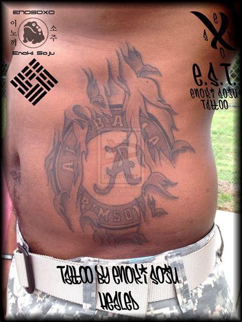 alabama crimson tide tattoos alabama crimson tide healed by enoki soju by