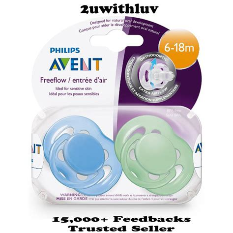 Avent Soother Freeflow 6 18 Mths X2 philips avent freeflow orthodontic pacifier dummy bpa free 6 18 months 2 pack ebay