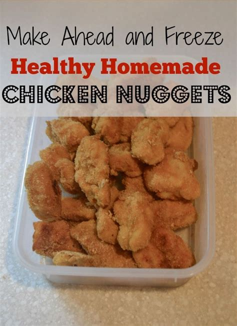 Freezer Nugget chicken nuggets make a big batch and keep them