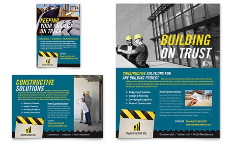 flyer templates engineering industrial commercial construction flyer ad template