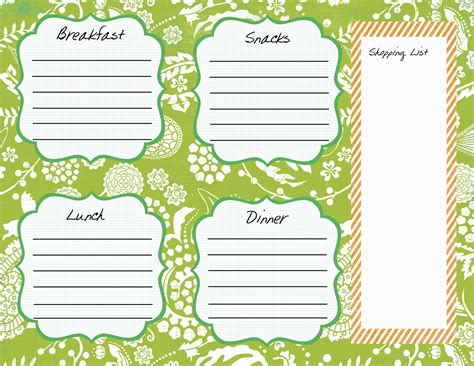 plan work sheet my meal plan worksheet