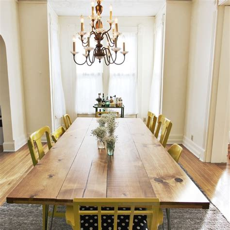 diy dining table legs picture of diy dining table with trendy hairpin legs 6