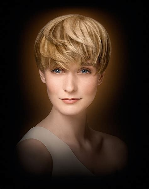 wella hairstyles a short blonde hairstyle from the wella collection no 22576