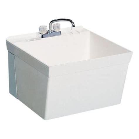 Swan Utility Sink swan 22 875 in x 23 375 in veritek wall mount laundry tub mf10000wm 001 the home depot