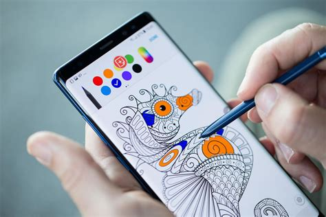 Note 9 Drawing by Galaxy Note 8 S Coolest S Pen Stylus Tricks Cnet